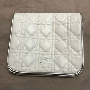 Dior Beauty White Cosmetic Fold-over Bag NWOT